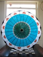 Handpainted parasol, by ARTintersect on etsy.com