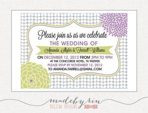 Invitation, by MadebyRin on etsy.com