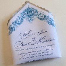 Invitation handkerchief - something a bit unique! By ArtfulBeginnings on etsy.com