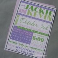 Invitation - poster style - by aprilink on etsy.com