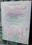Letterpress invitation, by SmallPrinter on etsy.com