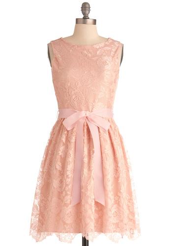 Looking Like A Million Bucks in Blush dress, from modcloth.com