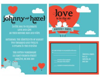 Lovebirds invitation, by ByDesignWeddings on etsy.com