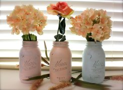 Mason jars, by sugarplummoose on etsy.com