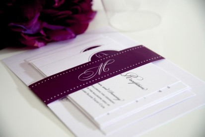 Monogram invitation, by shineinvitations on etsy.com