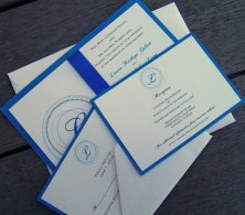 Monogram invitation, by TheExtraDetail on etsy.com