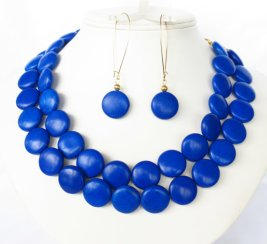 Necklace and earring set, by WildflowersAndGrace on etsy.com