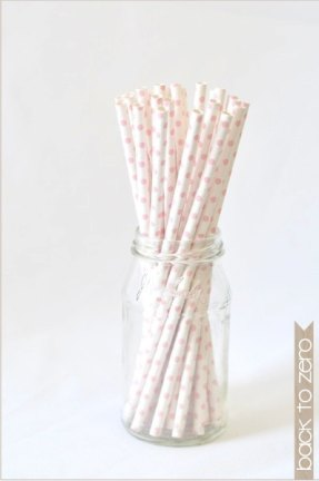 Paper straws, by BacktoZero on etsy.com