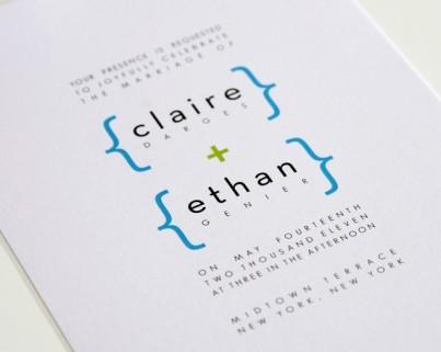 Simple modern invitation, by shineinvitations on etsy.com