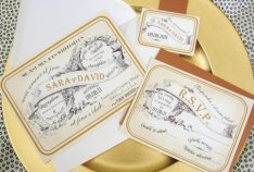 Vintage French invitation, by Penmagic on etsy.com