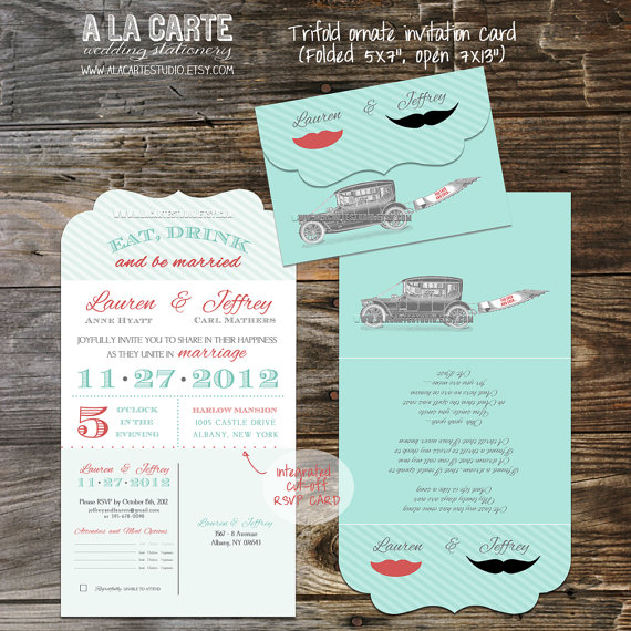 My favourite invitations on etsy right now the merry bride stopboris Choice Image