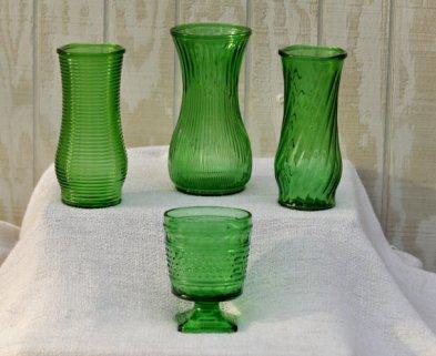 Vintage vases, by TinkersVintage on etsy.com