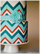 Wedding cake - chevron pattern