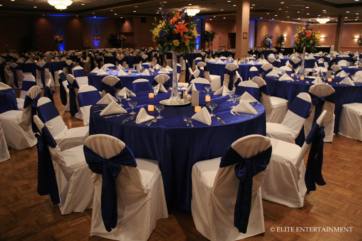 Wedding Reception In Royal Blue The Merry Bride