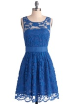 When the Night Comes Dress in blue, from modcloth.com