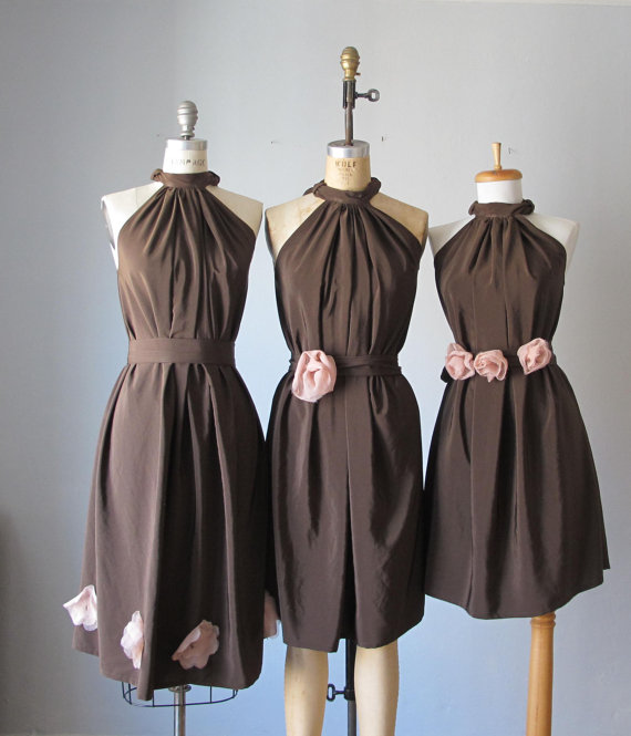 Bridesmaid dresses, by AtelierSignature on etsy.com | The Merry Bride