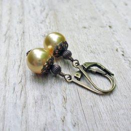 Earrings, by BeadinByTheSea on etsy.com
