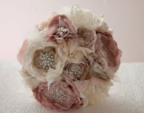 Fabric flower bouquet, by Cultivar on etsy.com