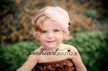 Flower girl headband, by SweetheartBoutique on etsy.com