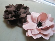 Flower hair clips, by mrsbowthemommy on etsy.com