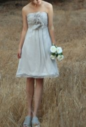 Grey bridesmaid dress, by FM908 on etsy.com