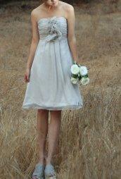Grey bridesmaid dress, by FM908 on etsy.com