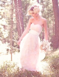 Made-to-order pale pink wedding dress, by IJcreations on etsy.com