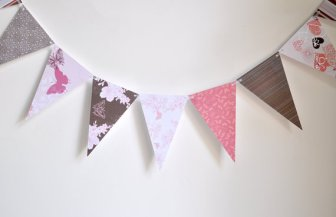 Paper bunting, by TerraBellusPaperCo on etsy.com