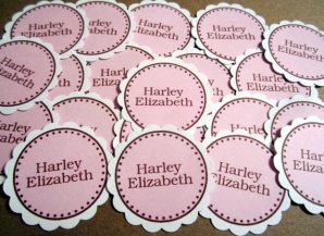 Personalised confetti, by SweetPaperSprinkles on etsy.com
