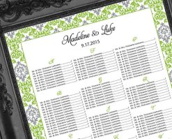 Printable seating plan, by MemDesignShop on etsy.com