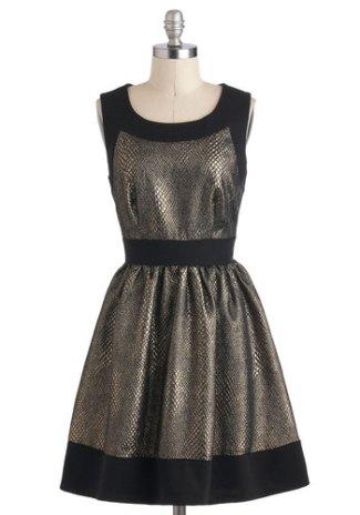 'Sheen around you' dress, from modcloth.com