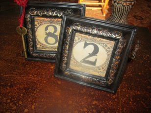 Table numbers, by trusted on etsy.com
