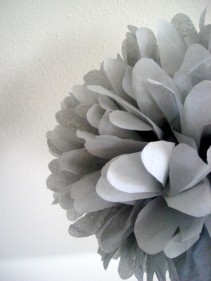 Tissue paper pompoms, by PomLove on etsy.com