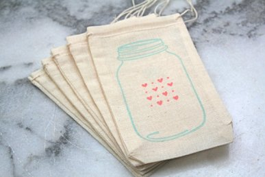 Wedding favour bags, by ClementineWeddings on etsy.com