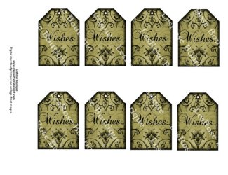 Wedding wish tree tag template, by AllDigitalPrintables on etsy.com
