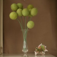Wool flowers, by Fairyfolk on etsy.com