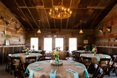 A rustic wedding reception