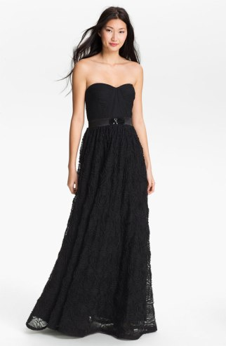 Adrianna Papell Pleat Bodice Rosette gown, available from nordstrom.com