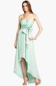 BCBG MAXAZRIA Crinkled High/Low Silk Gown, from nordstrom.com