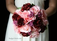 Beautiful bouquet in burgundy and pink shades