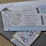 Boarding-pass invitation, by sproulliedesigns on etsy.com