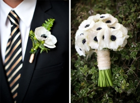 Bouquet and groom's boutonniere inspiration