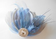 Bridal hair accessory, by parfaitplumes on etsy.com