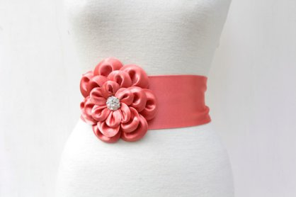 Bridal sash, by fulyas on etsy.com