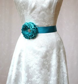 Bridal sash, by SunnyApril on etsy.com