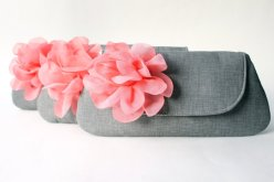 Bridesmaid clutch purse set of three, by allisajacobs on etsy.com