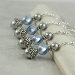 Bridesmaid earrings, by AbacusBeadCreations on etsy.com