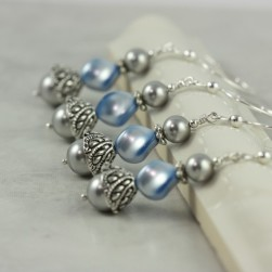Bridesmaid earrings, by AbacusBeadCreations on etsy.com