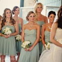 Bridesmaids in sage