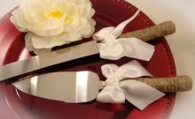 Cake-serving tools, by ORomeo on etsy.com